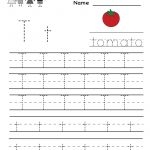 Kindergarten Letter T Writing Practice Worksheet Printable | Letter | Alphabet Practice Worksheets Printable