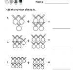 Kindergarten Olympics Math Worksheet Printable | Classroom | Kids | Olympic Printable Worksheets