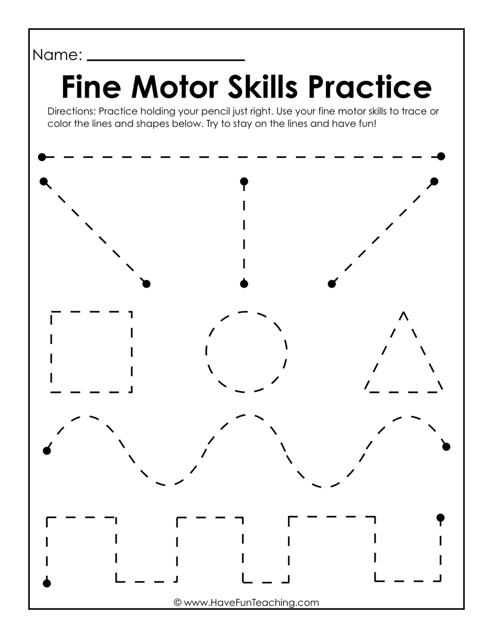 Kindergarten Practice Worksheets – With English For Free Worksheet | Free Printable Fine Motor Skills Worksheets