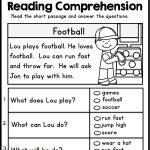 Kindergarten Reading Comprehension Passages   Set 1 | Teacher | Free Printable Reading Worksheets For 1St Grade