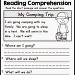 Kindergarten Reading Comprehension Worksheets Multiple Cho   Free | Kindergarten Reading Printable Worksheets