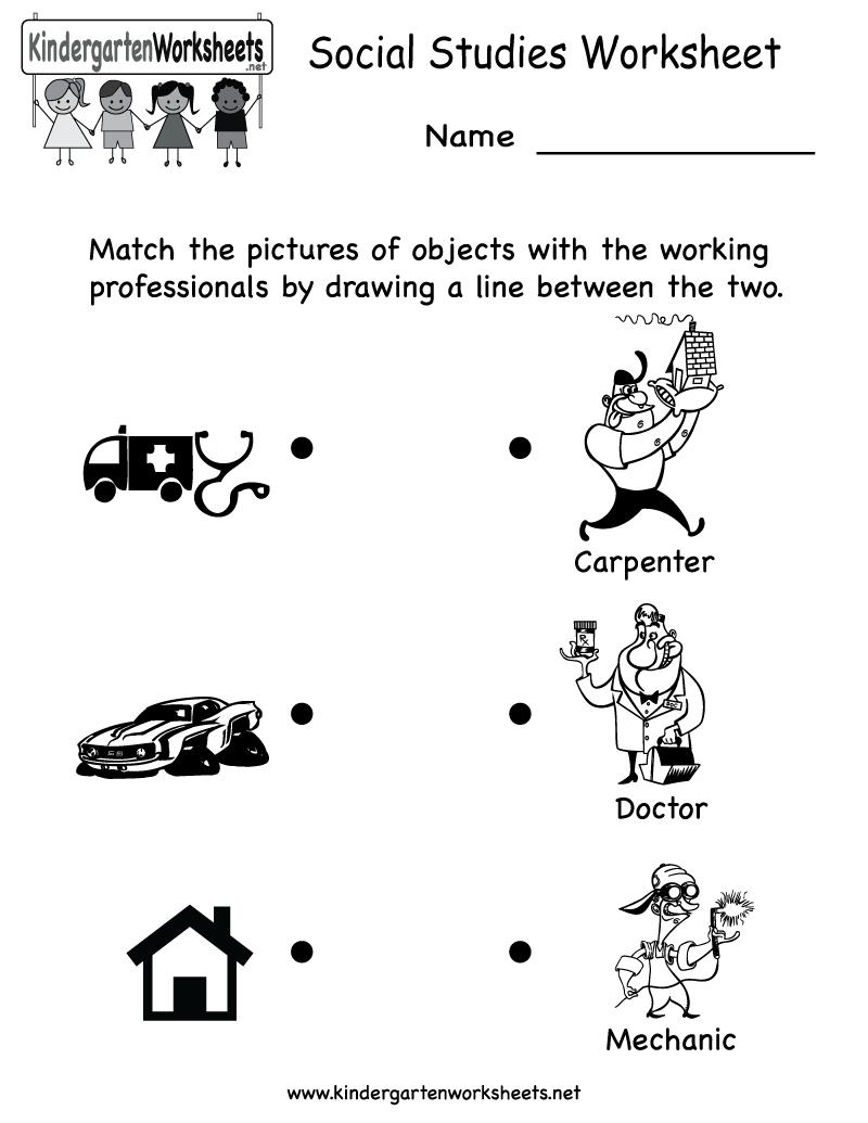 Kindergarten Social Studies Worksheet Printable   Worksheets (Legacy   Elementary Social Studies Worksheets Printable
