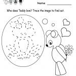 Kindergarten Valentine's Day Activities Worksheet Printable | Cute | Kindergarten Worksheets Printable Activities
