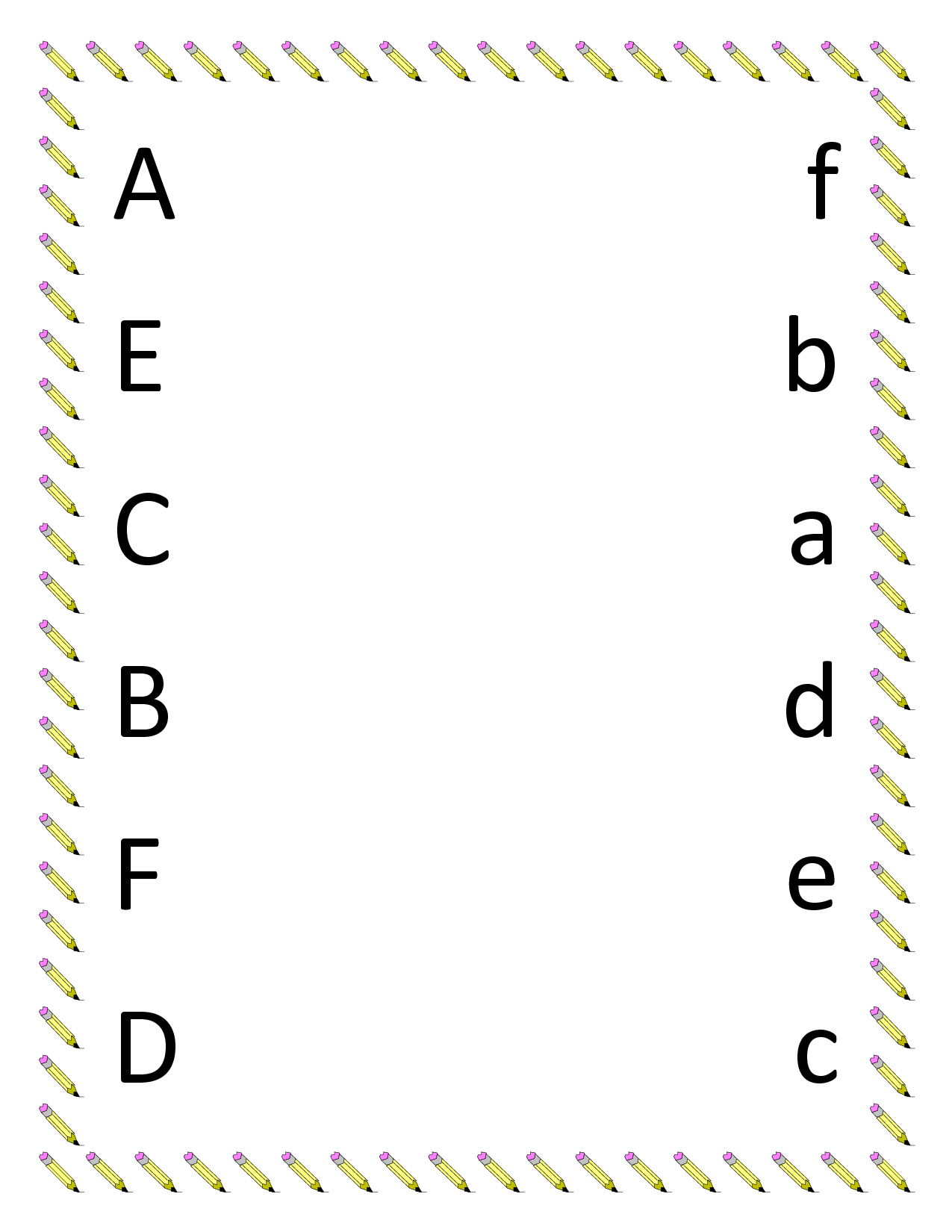 Kindergarten Worksheets | Preschool Matching Worksheets - Upper | Abc Matching Worksheets Printable