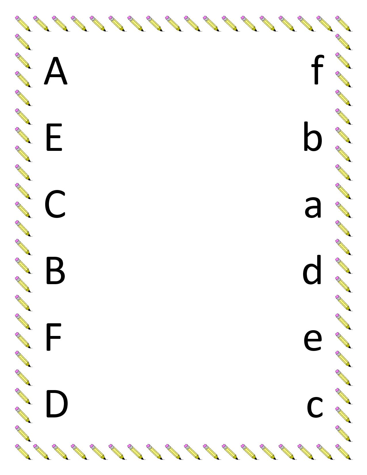 Kindergarten Worksheets | Preschool Matching Worksheets - Upper | Printable Matching Worksheets For Preschoolers