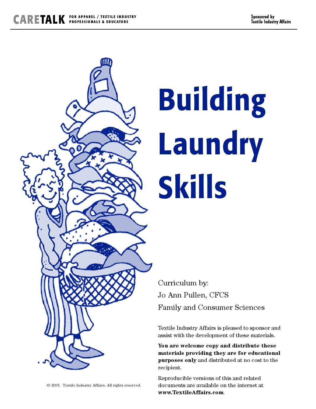 Laundry Curriculum With Worksheets And Printable Care Guide | Facs | Laundry Worksheets Printable