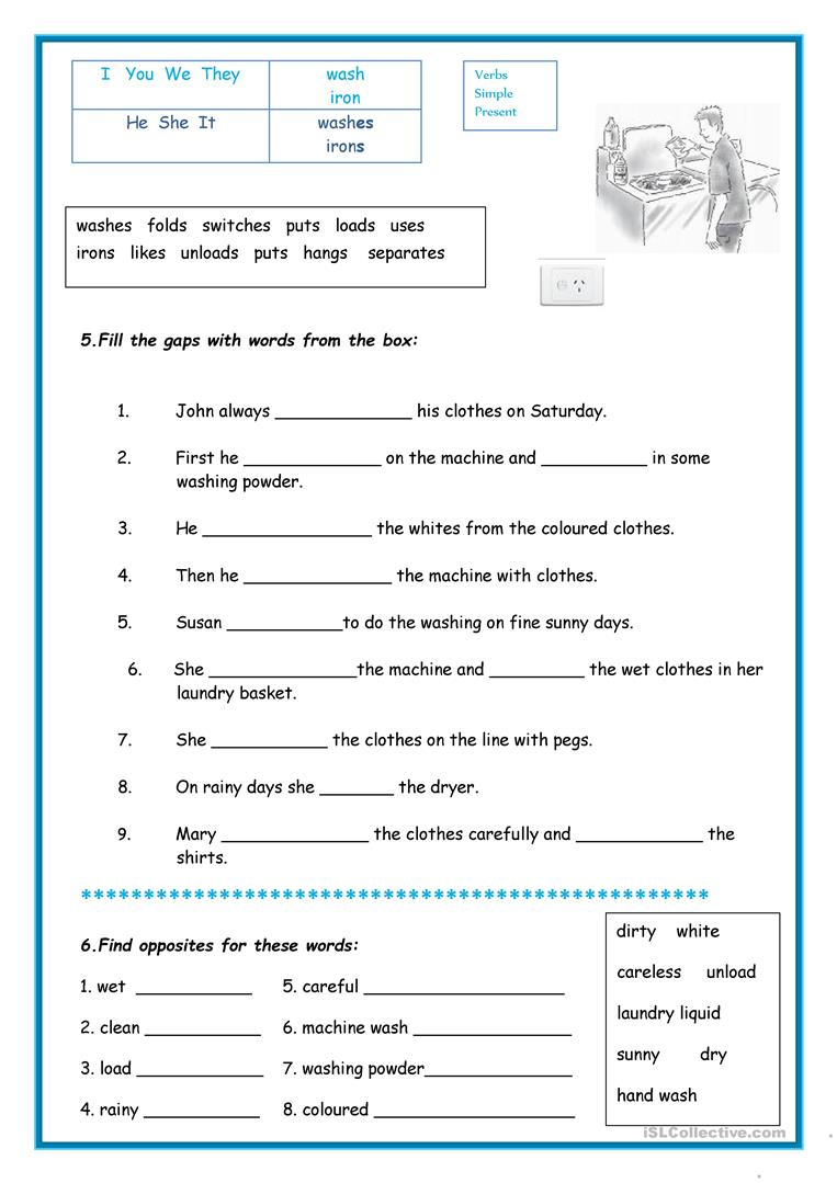 Laundry Worksheet - Free Esl Printable Worksheets Madeteachers | Laundry Worksheets Printable