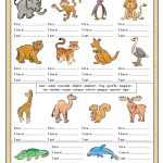 Learning About Animals For Kids Worksheets   Google Search | Los Animales Printable Worksheets