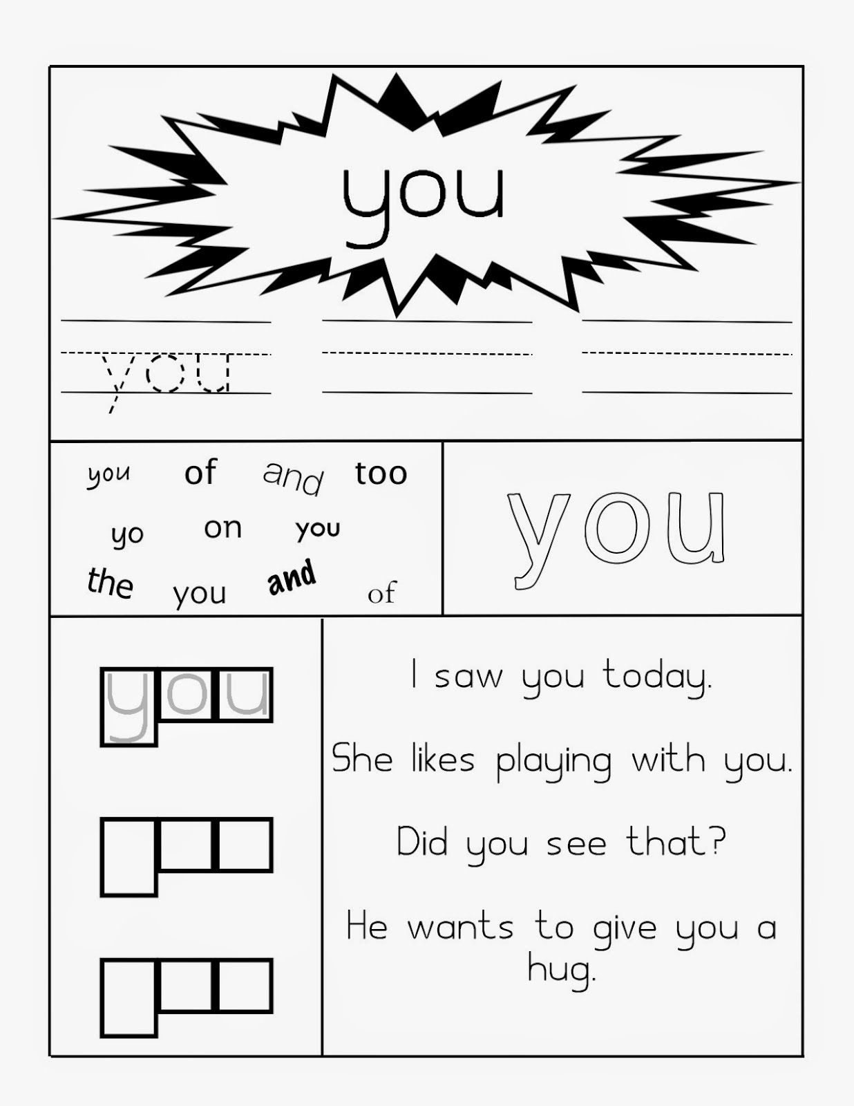 Learning Through Mom Sight Word Worksheets Free Printables | Dolch Words Worksheets Free Printable