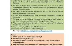 Happiness Printable Worksheets