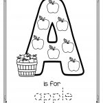 Letter A Is For Apple   Trace And Color Printable Free | Apples | Free Printable Color By Letter Worksheets