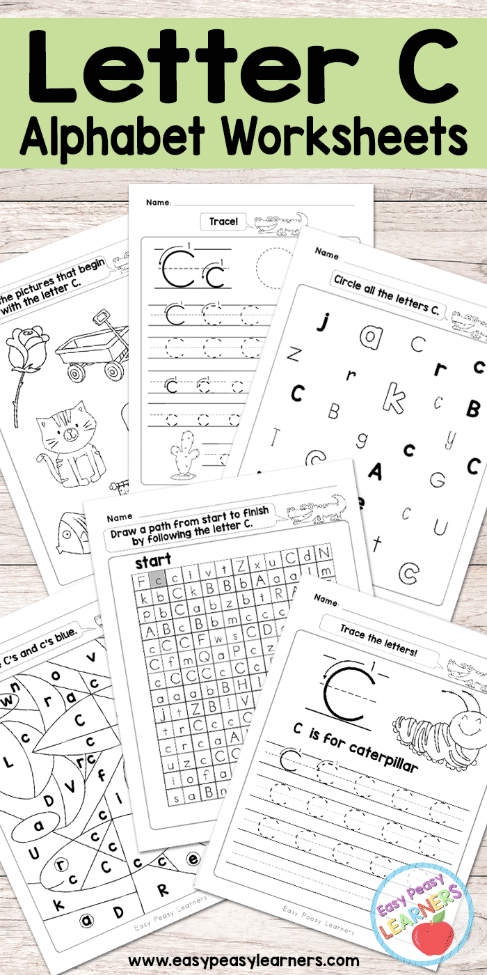 Letter C Worksheets - Alphabet Series - Easy Peasy Learners | Letter C Printable Worksheets