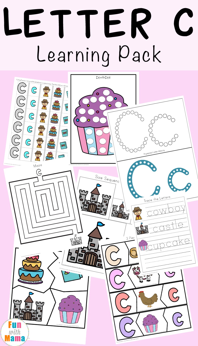 Letter C Worksheets And Printables Pack - Fun With Mama | Free Printable Preschool Worksheets Letter C