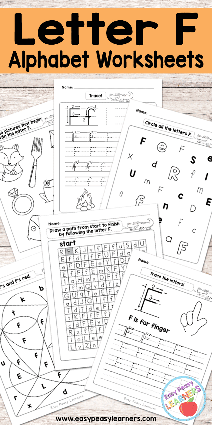 Letter F Worksheets - Alphabet Series - Easy Peasy Learners | Printable Alphabet Worksheets