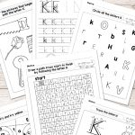 Letter K Worksheets   Alphabet Series   Easy Peasy Learners | Letter K Worksheets Printable