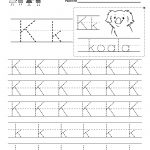 Letter K Writing Practice Worksheet   Free Kindergarten English | Letter K Worksheets Printable
