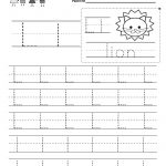Letter L Writing Practice Worksheet   Free Kindergarten English | Free Printable Letter L Tracing Worksheets