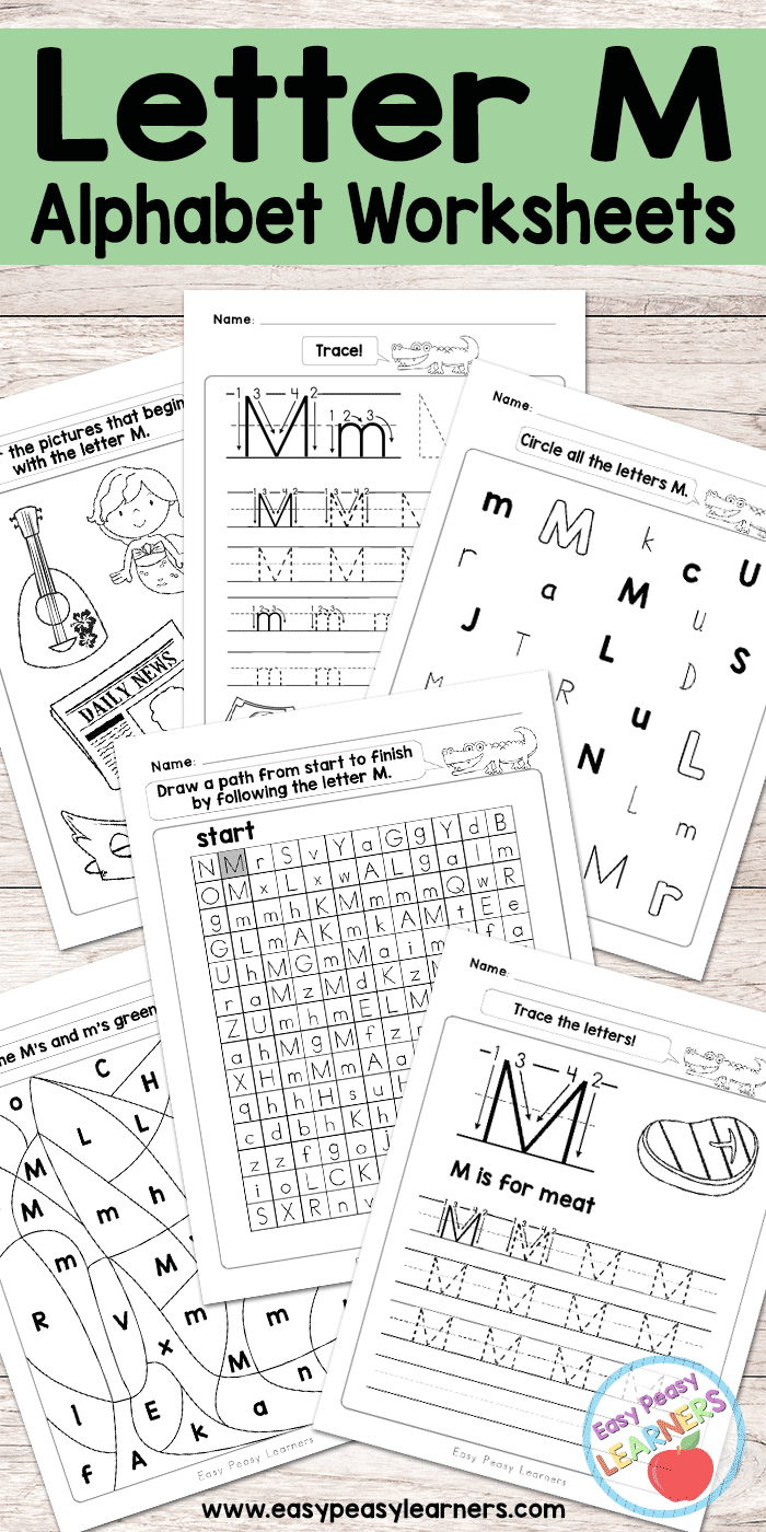 Letter M Worksheets - Alphabet Series - Easy Peasy Learners | Letter M Printable Worksheets