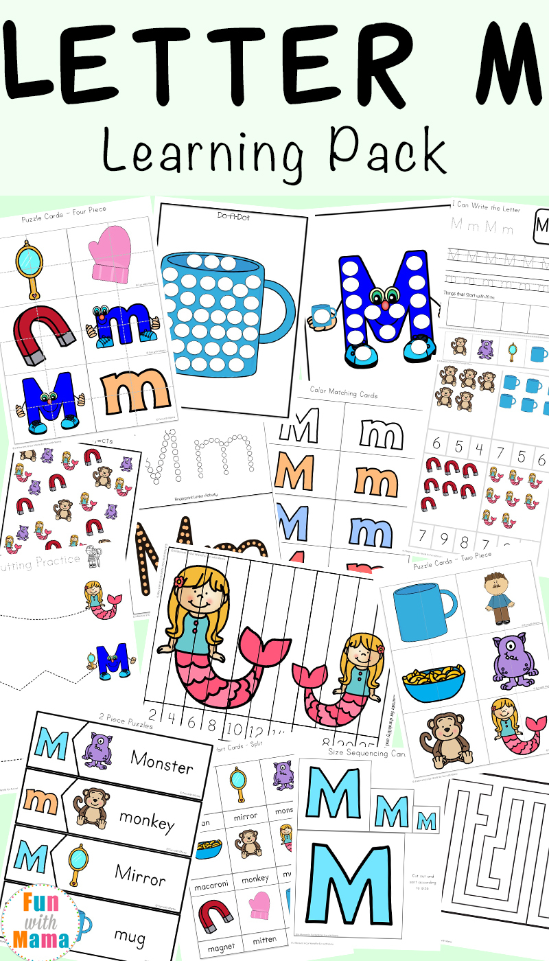 Letter M Worksheets - Fun With Mama | Letter M Printable Worksheets