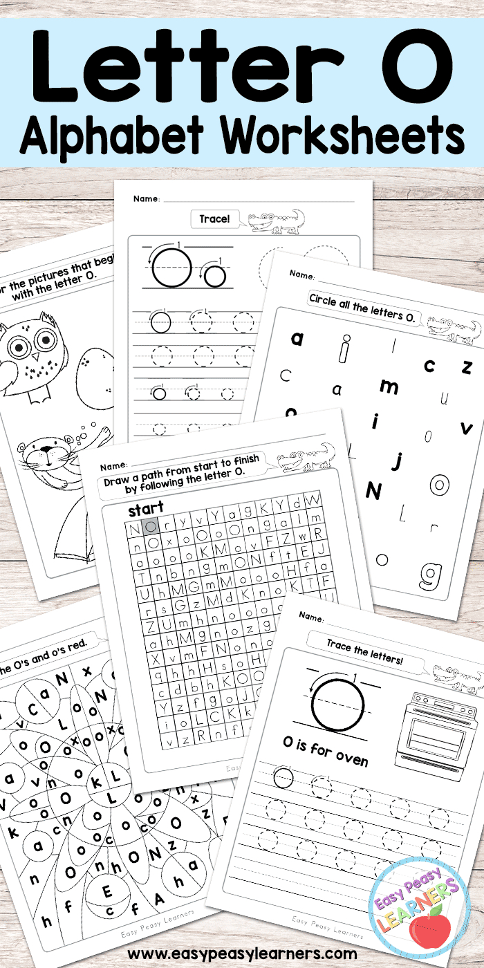 Letter O Worksheets - Alphabet Series - Easy Peasy Learners | Letter O Printable Worksheets