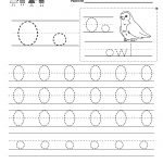 Letter O Writing Practice Worksheet   Free Kindergarten English | Letter O Printable Worksheets