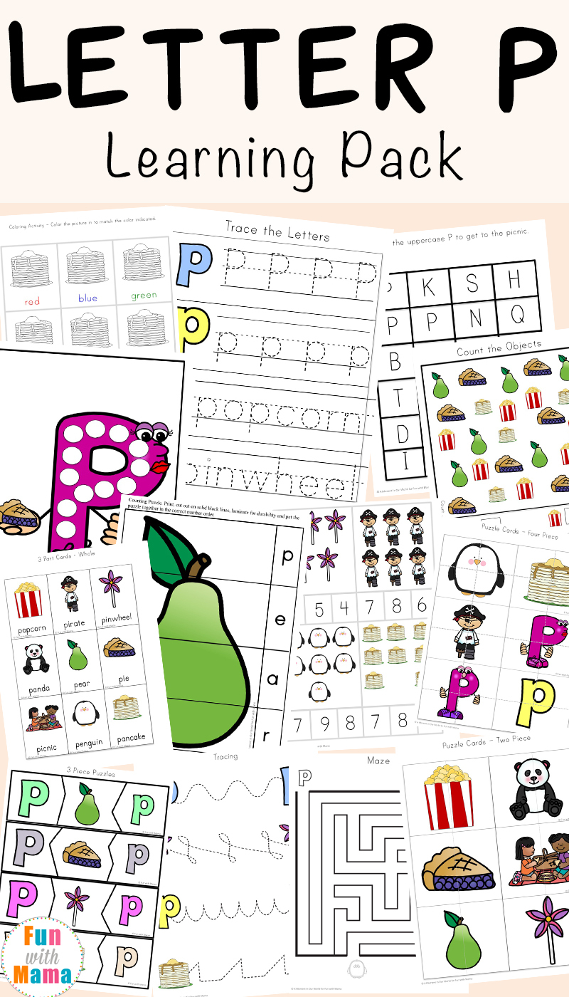 Letter P Worksheets + Printables - Fun With Mama | Free Printable Letter P Worksheets