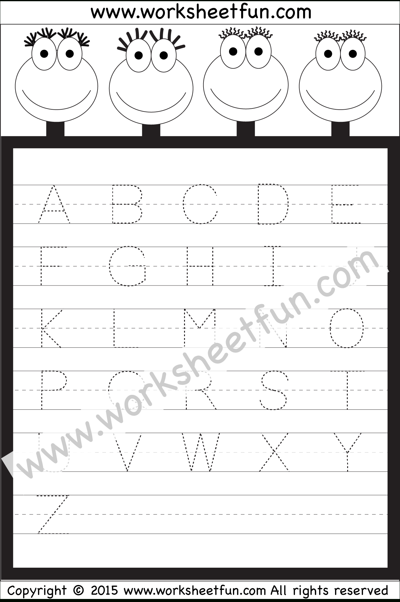 Letter Tracing Worksheet – Capital Letters / Free Printable | Capital Alphabets Tracing Worksheets Printable