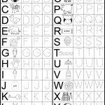 Letter Tracing Worksheet | Printable Worksheets | Kindergarten | Printable Worksheets For Preschoolers The Alphabets