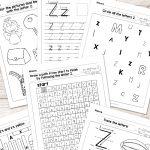 Letter Z Worksheets   Alphabet Series   Easy Peasy Learners | Letter Z Worksheets Free Printable