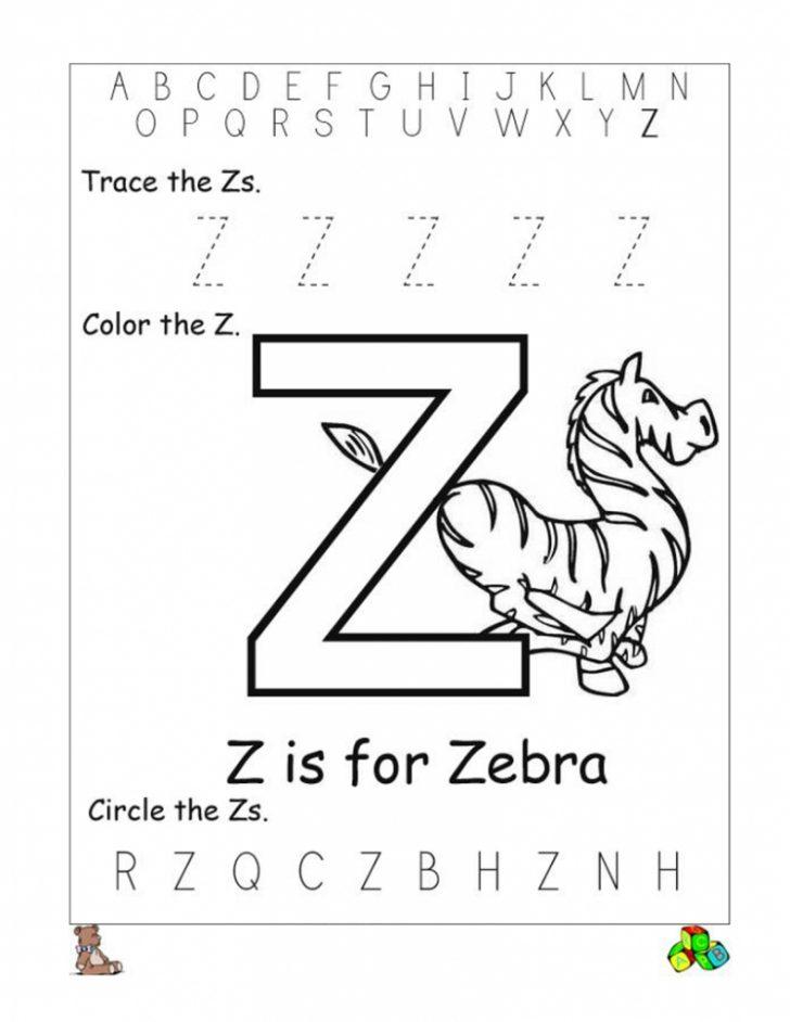 Letter Z Worksheets Free Printable