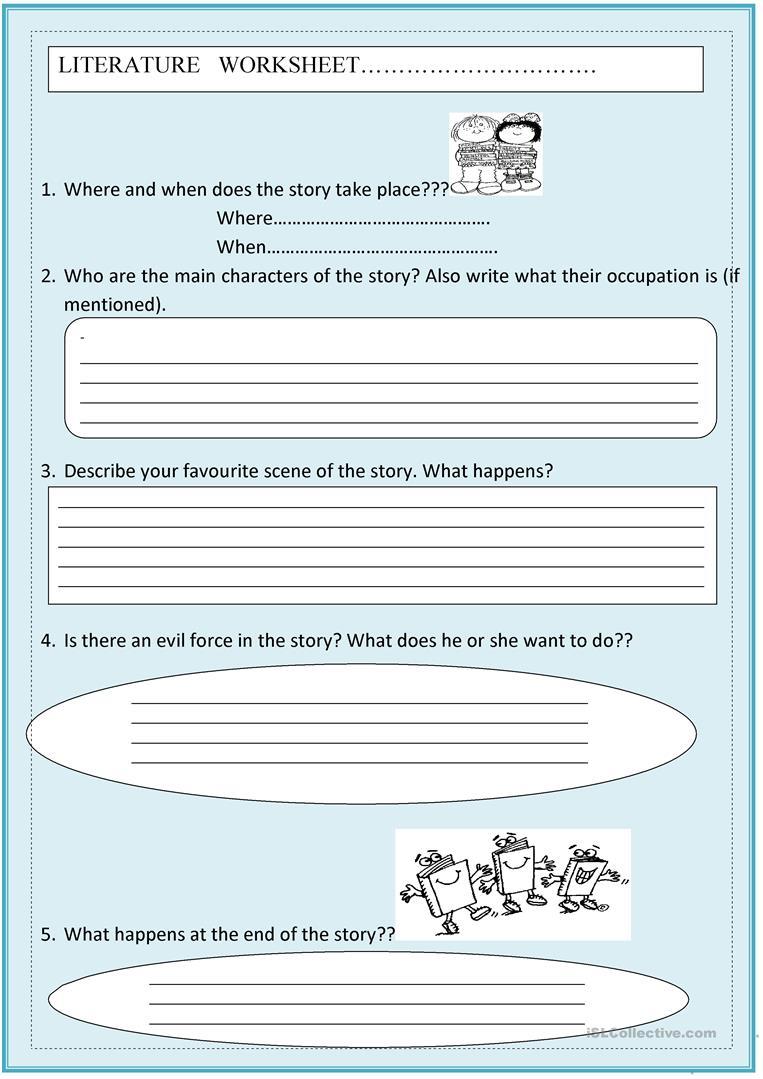 Literature Worksheet Worksheet - Free Esl Printable Worksheets Made | Printable Literature Worksheets
