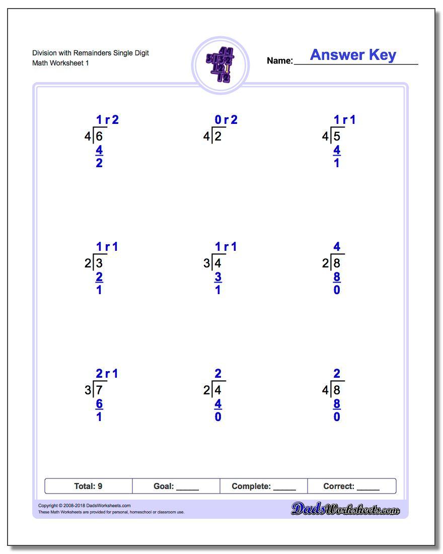 Long Division Worksheets   4Th Grade Division Printable Worksheets