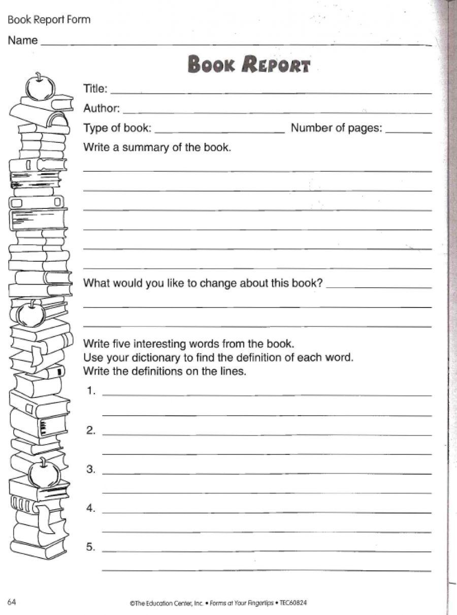 Love To Teach | Book Report Worksheet | Teacher, Student, And Parent | Printable Book Report Worksheets