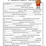 Mad Libs Basketball Game | Teaching Esl | Basketball Games For Kids | Funny Mad Libs Printable Worksheets