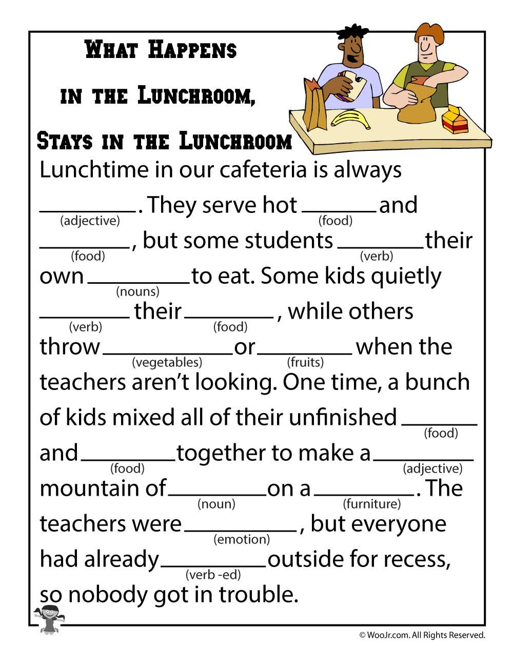 Mad Libs Worksheets   Woo! Jr. Kids Activities   Funny Mad Libs Printable Worksheets