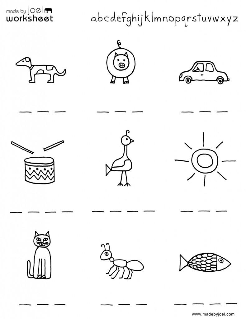 Madejoel » Spelling Worksheet For Summer – Kindergarten | Spelling Worksheets For Kindergarten Printable