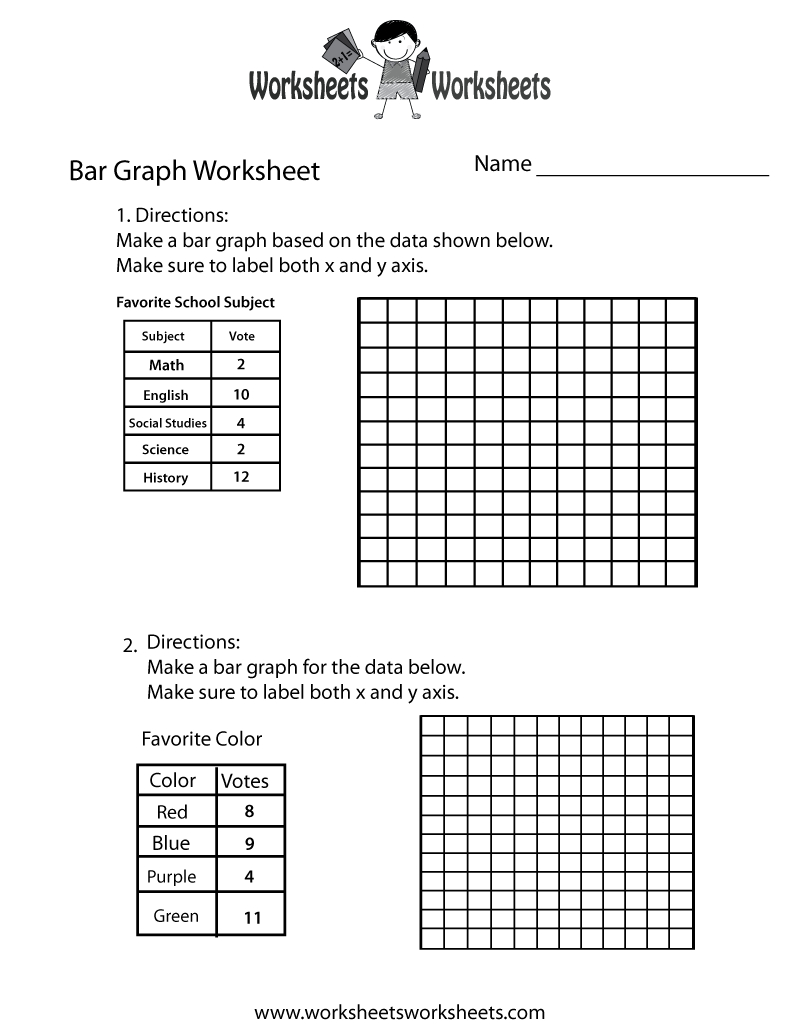 Making Bar Graph Worksheet - Free Printable Educational Worksheet | Free Printable Graphing Worksheets