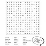 Martin Luther King Jr. Free Printable Word Search Worksheet | Word Search Printable Worksheets Hard