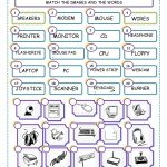 Match The Computer Parts Worksheet   Free Esl Printable Worksheets | Parts Of The Computer Worksheet Printable