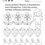 Math Coloring Worksheet   Free Kindergarten Learning Worksheet For | Printable Math Coloring Worksheets