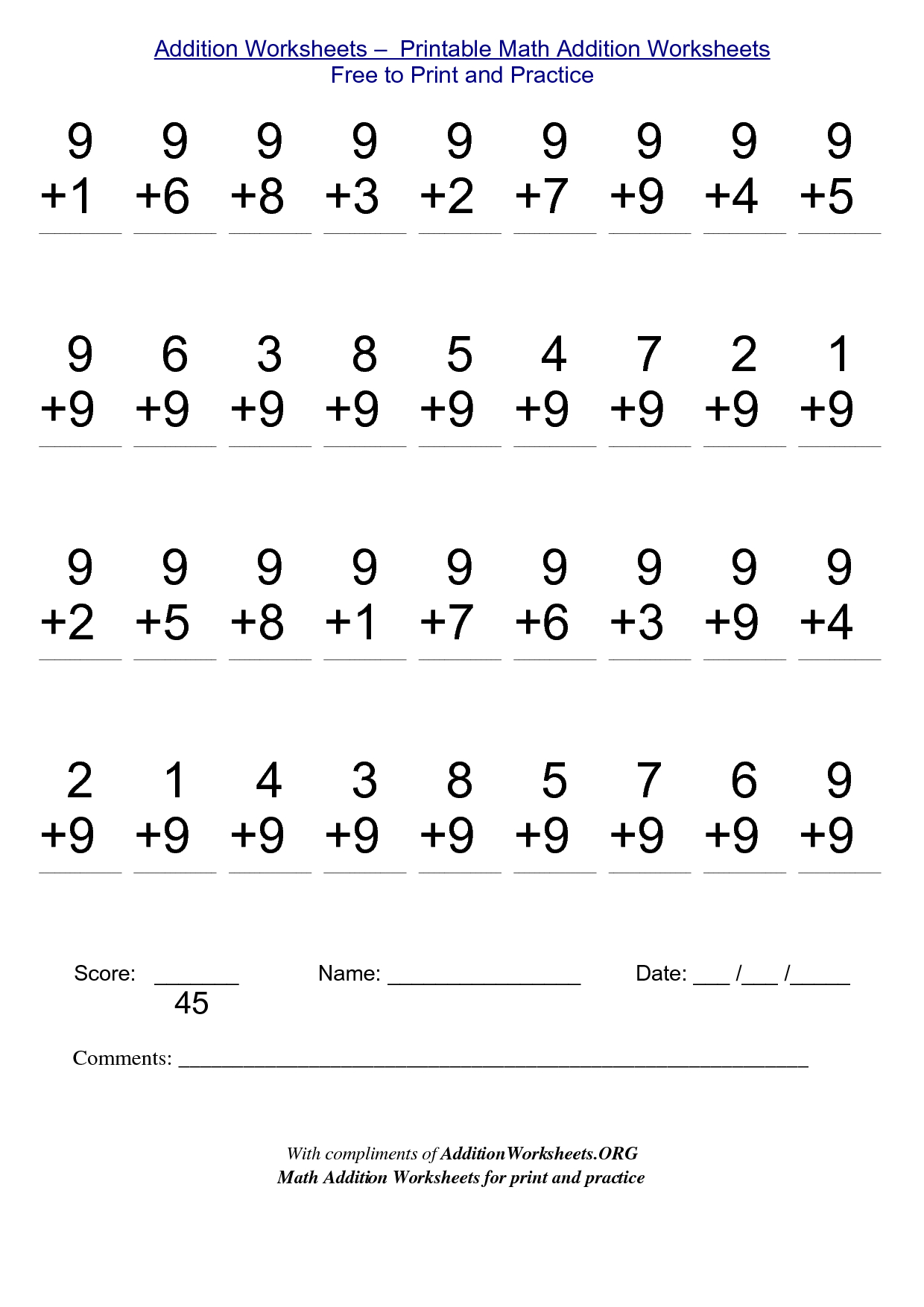 Math Worksheets For Free To Print - Alot | Me | Kindergarten | Free Printable Math Worksheets