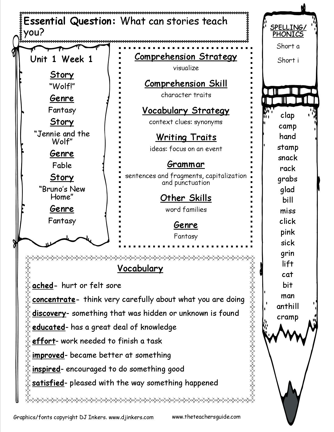 Mcgraw-Hill Wonders Third Grade Resources And Printouts | 3Rd Grade English Worksheets Printable