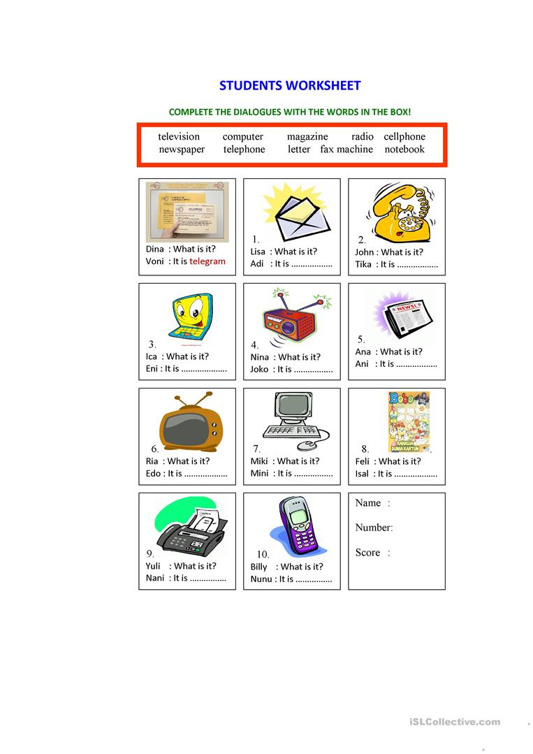 Means Of Communication Worksheet Worksheet - Free Esl Printable | Free Printable Worksheets On Means Of Communication