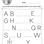 Missing Letter Worksheets (Free Printables)   Doozy Moo | Printable Abc Letters Worksheets