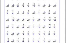 Printable Multiplication And Division Worksheets