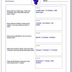 Multiplication Word Problems | Basic Multiplication Printable Worksheets