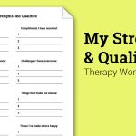 My Strengths And Qualities (Worksheet) | Therapist Aid   Free | Free Printable Therapy Worksheets