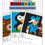 Mystery Multiplication   Coloring Squared | Free Printable Math Mystery Picture Worksheets