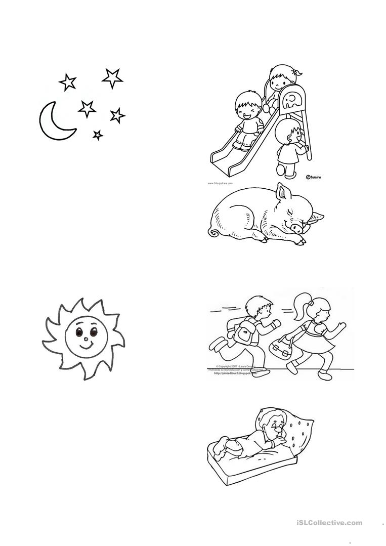 Night And Day Worksheet - Free Esl Printable Worksheets Madeteachers | Day And Night Printable Worksheets