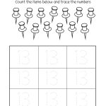 Number 13 Writing, Counting And Identification Printable Worksheets | Free Printable Number Worksheets For Kindergarten